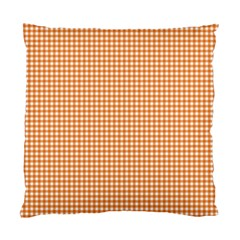 Orange Tablecloth Plaid Line Standard Cushion Case (one Side) by Alisyart
