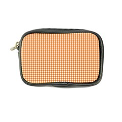 Orange Tablecloth Plaid Line Coin Purse by Alisyart