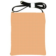 Orange Tablecloth Plaid Line Shoulder Sling Bags