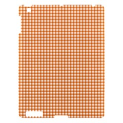 Orange Tablecloth Plaid Line Apple Ipad 3/4 Hardshell Case by Alisyart
