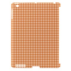 Orange Tablecloth Plaid Line Apple Ipad 3/4 Hardshell Case (compatible With Smart Cover) by Alisyart