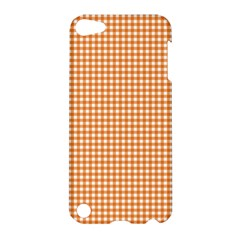 Orange Tablecloth Plaid Line Apple Ipod Touch 5 Hardshell Case by Alisyart