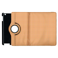 Orange Tablecloth Plaid Line Apple Ipad 2 Flip 360 Case by Alisyart