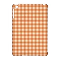 Orange Tablecloth Plaid Line Apple Ipad Mini Hardshell Case (compatible With Smart Cover) by Alisyart