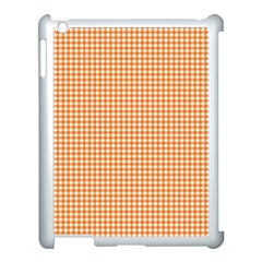 Orange Tablecloth Plaid Line Apple Ipad 3/4 Case (white)