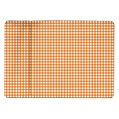 Orange Tablecloth Plaid Line Samsung Galaxy Tab 10 1  P7500 Flip Case