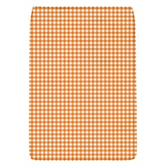 Orange Tablecloth Plaid Line Flap Covers (s)  by Alisyart