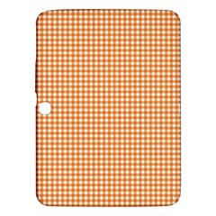 Orange Tablecloth Plaid Line Samsung Galaxy Tab 3 (10 1 ) P5200 Hardshell Case  by Alisyart