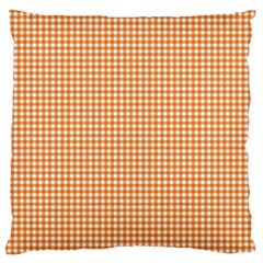 Orange Tablecloth Plaid Line Large Flano Cushion Case (two Sides)