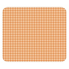 Orange Tablecloth Plaid Line Double Sided Flano Blanket (small)
