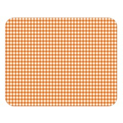 Orange Tablecloth Plaid Line Double Sided Flano Blanket (large)  by Alisyart