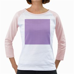 Purple Tablecloth Plaid Line Girly Raglans by Alisyart
