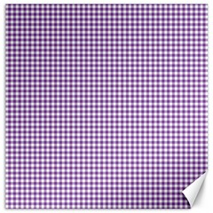 Purple Tablecloth Plaid Line Canvas 12  X 12   by Alisyart