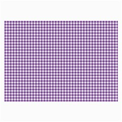 Purple Tablecloth Plaid Line Large Glasses Cloth (2 Side) by Alisyart
