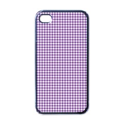 Purple Tablecloth Plaid Line Apple Iphone 4 Case (black) by Alisyart