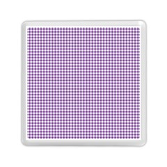 Purple Tablecloth Plaid Line Memory Card Reader (square)  by Alisyart