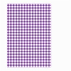 Purple Tablecloth Plaid Line Small Garden Flag (two Sides)