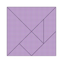 Purple Tablecloth Plaid Line Acrylic Tangram Puzzle (6  X 6 ) by Alisyart