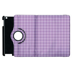 Purple Tablecloth Plaid Line Apple Ipad 3/4 Flip 360 Case by Alisyart