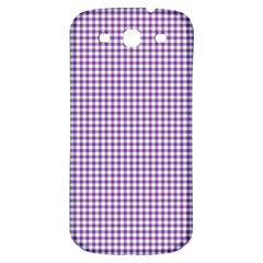 Purple Tablecloth Plaid Line Samsung Galaxy S3 S Iii Classic Hardshell Back Case by Alisyart