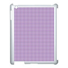 Purple Tablecloth Plaid Line Apple Ipad 3/4 Case (white)