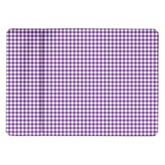 Purple Tablecloth Plaid Line Samsung Galaxy Tab 10 1  P7500 Flip Case