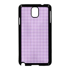 Purple Tablecloth Plaid Line Samsung Galaxy Note 3 Neo Hardshell Case (black)