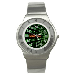 Marketing Runing Number Stainless Steel Watch by Alisyart