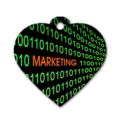 Marketing Runing Number Dog Tag Heart (one Side)