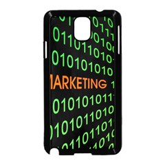 Marketing Runing Number Samsung Galaxy Note 3 Neo Hardshell Case (black)