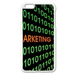 Marketing Runing Number Apple iPhone 6 Plus/6S Plus Enamel White Case Front