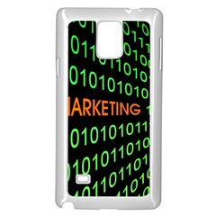 Marketing Runing Number Samsung Galaxy Note 4 Case (white) by Alisyart