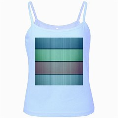 Modern Texture Blue Green Red Grey Chevron Wave Line Baby Blue Spaghetti Tank