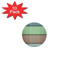 Modern Texture Blue Green Red Grey Chevron Wave Line 1  Mini Buttons (10 Pack)