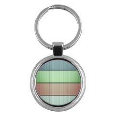 Modern Texture Blue Green Red Grey Chevron Wave Line Key Chains (round)  by Alisyart