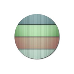 Modern Texture Blue Green Red Grey Chevron Wave Line Magnet 3  (round) by Alisyart