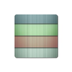 Modern Texture Blue Green Red Grey Chevron Wave Line Square Magnet