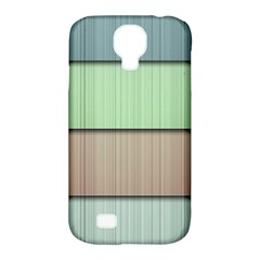 Modern Texture Blue Green Red Grey Chevron Wave Line Samsung Galaxy S4 Classic Hardshell Case (pc+silicone) by Alisyart