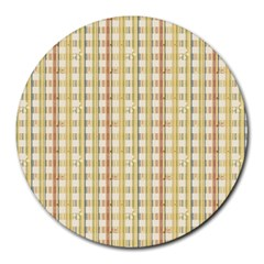 Tomboy Line Yellow Red Round Mousepads by Alisyart