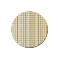 Tomboy Line Yellow Red Rubber Round Coaster (4 Pack)  by Alisyart