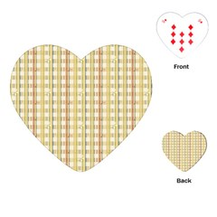 Tomboy Line Yellow Red Playing Cards (heart)  by Alisyart