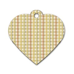 Tomboy Line Yellow Red Dog Tag Heart (two Sides) by Alisyart
