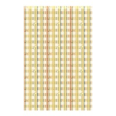 Tomboy Line Yellow Red Shower Curtain 48  X 72  (small)