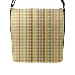 Tomboy Line Yellow Red Flap Messenger Bag (l)  by Alisyart