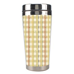 Tomboy Line Yellow Red Stainless Steel Travel Tumblers by Alisyart