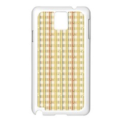 Tomboy Line Yellow Red Samsung Galaxy Note 3 N9005 Case (white)