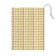 Tomboy Line Yellow Red Drawstring Pouches (extra Large)