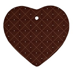 Coloured Line Squares Plaid Triangle Brown Line Chevron Ornament (heart) by Alisyart