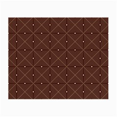 Coloured Line Squares Plaid Triangle Brown Line Chevron Small Glasses Cloth by Alisyart