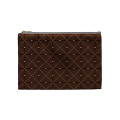 Coloured Line Squares Plaid Triangle Brown Line Chevron Cosmetic Bag (medium)  by Alisyart